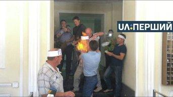 Попытка самосожжения шахтером в Минэнерго