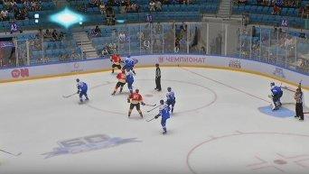 Хоккеист Барыса (Астана) Дамир Риспаев побил сразу 4 игроков китайского клуба Куньлунь Ред Стар
