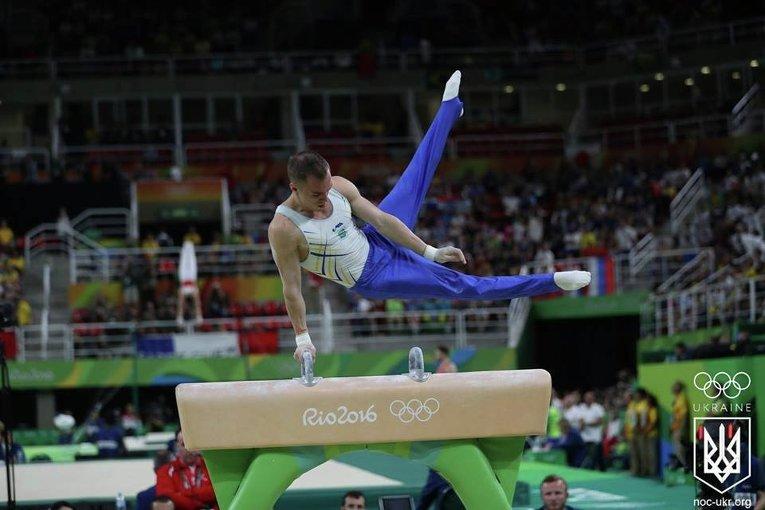 Украинский гимнаст Олег Верняев на ОИ-2016