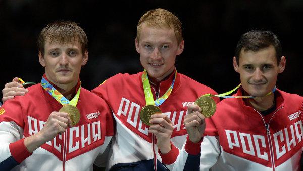 Русские рапиристы завоевали золотые медали Олимпиады