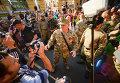 Николай Коханивский в ходе марша, организованного ОУН в Киеве. Архивное фото