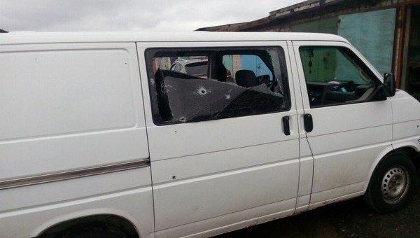 Автобус Милонова с гумпомощью обстреляли в Донбассе