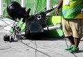 Люди пострадали от падения телекамеры в Олимпийском парке