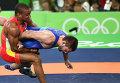 Давит Чакветадзе и Жан Беленюк в финале соревнований по греко-римской борьбе