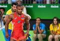 Жан Беленюк (Украина) в финале соревнований по греко-римской борьбе в весовой категории до 85 кг
