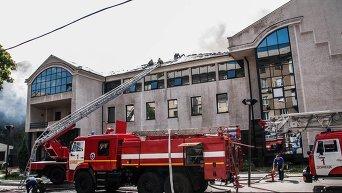 Пожар в офисе компании ИСД в Донецке