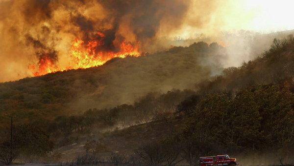 Лесные пожары в Калифорнии. Архивное фото