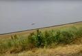 Посадка военного вертолета на трассу
