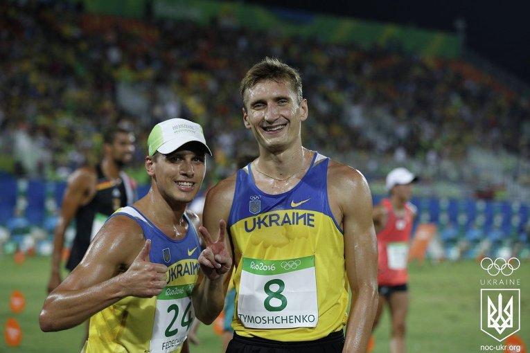 Пятиборцы Андрей Федечко и Павел Тимощенко на Олимпиаде в Рио