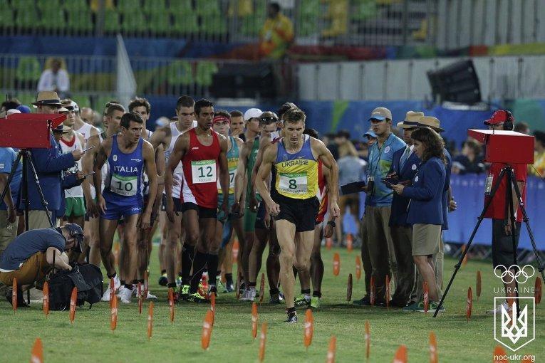 Забег пятиборцев на Олимпиаде в Рио
