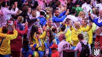 Сборная Украины на закрытии Олимпиады в Рио