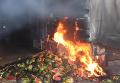 Возгорание фуры с арбузами