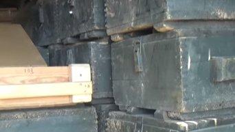 Под Марьинкой СБУ обнаружила тайник с двумя тоннами тротила. Видео