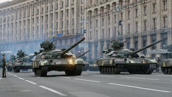 Генеральная репетиция парада в Киеве ко Дню Независимости