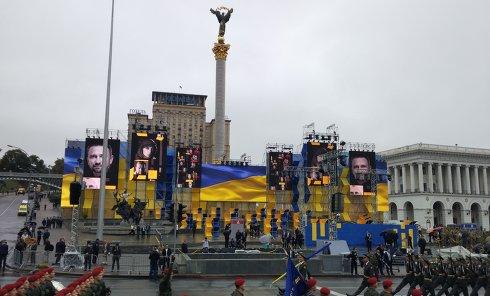Военный парад в Киеве в честь 25-летия независимости
