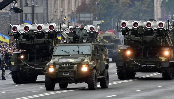 Военная техника на параде в День Независимости в Киеве