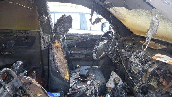 ВКиеве сожгли автомобиль догхантера и юриста