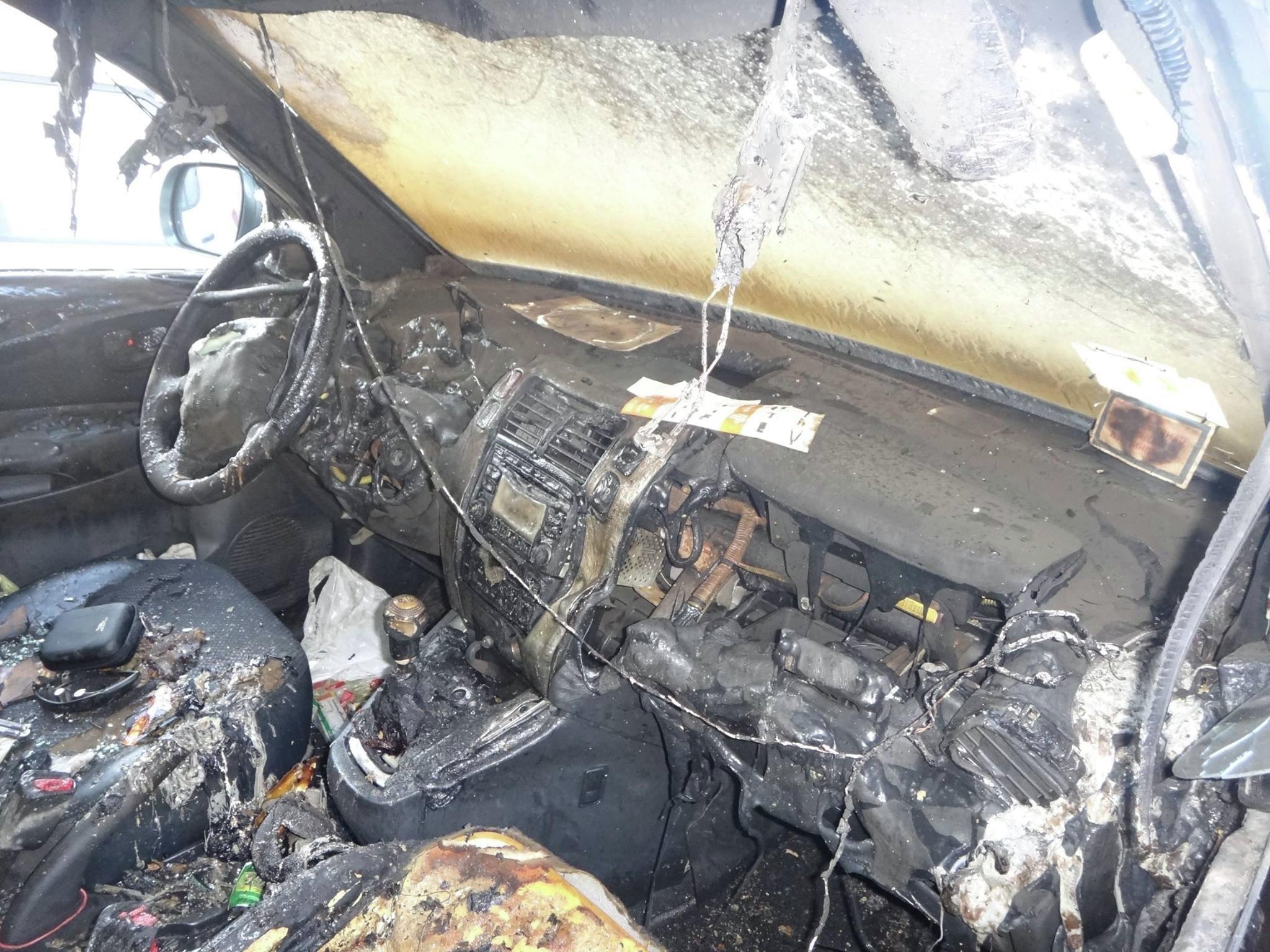 ВКиеве догхантеру сожгли машину