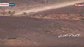 Грузинский бронеавтомобиль развалился на ходу во время боя в Йемене. Видео