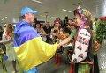 Встреча в аэропорту украинских каноистов-победителей Олимпиады в Рио