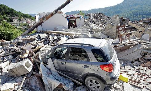 Италия, землетрясение