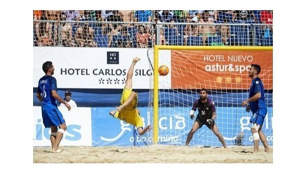 Сборная Украины попляжному футболу сыграет сПортугалией вфинале Евролиги
