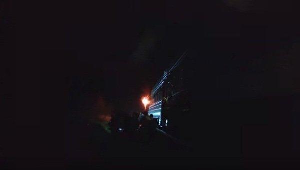 Поздним вечером вконце рабочей недели воЛьвовской области зажегся поезд
