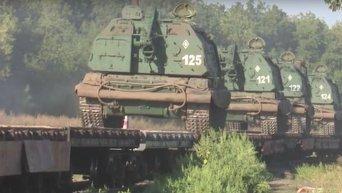 Переброская тяжелого вооружение ВС РФ на юг в рамках проверки боеготовности. Видео