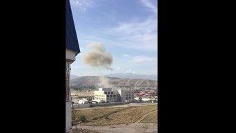 В Бишкеке возле посольства Китая произошел взрыв. Видео