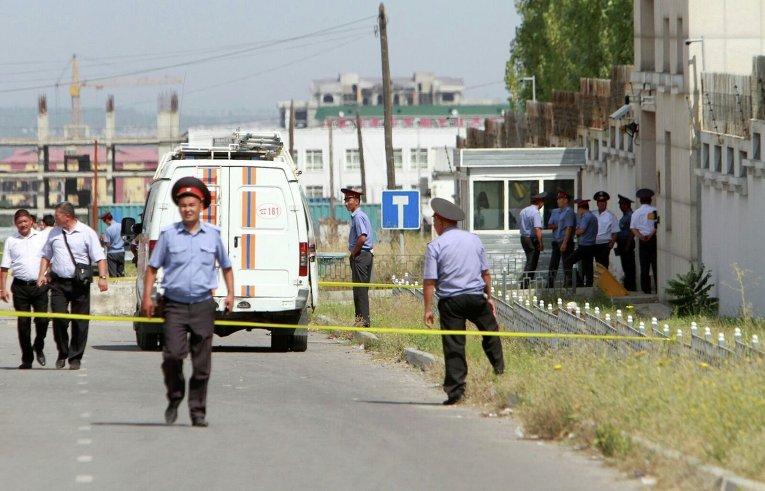 Взрыв у посольства Китая в Бишкеке