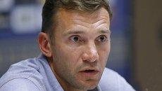 Главный тренер сборной Украины по футболу Андрей Шевченко