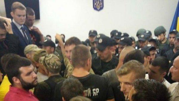 Впроцессе суда поделу отеракте уРады случились столкновения