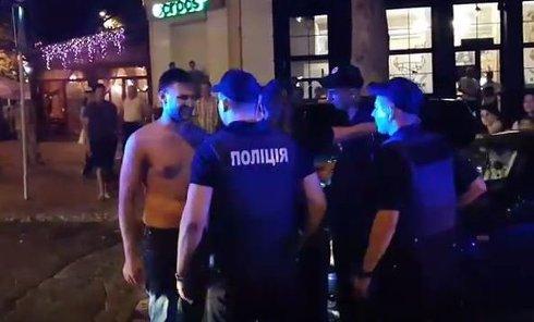 Дебош мажоров в центре Николаева
