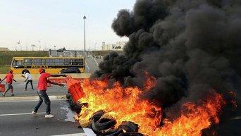Манифестации против импичмента Роуссефф в Бразилии