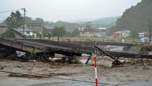 Последствия тайфуна в Японии. Архивное фото