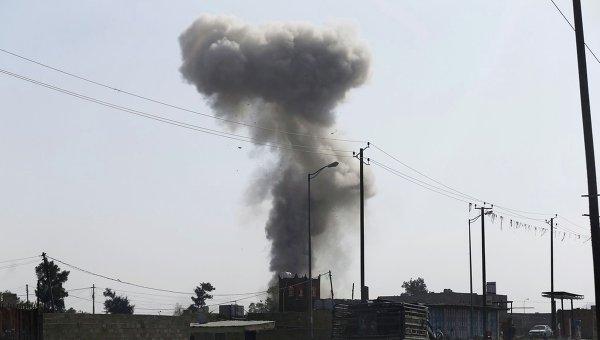 Удар арабской коалиции в провинции Саада на севере Йемена. Архивное фото
