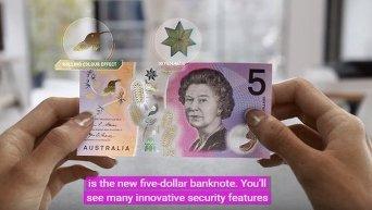 В Австралии выпустили прозрачные купюры с анимацией. Видео