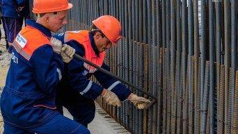 На сухопутных участках строительства Крымского моста возвели 100 опор