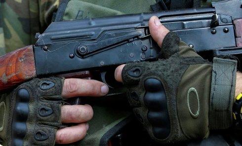 Боец ВСУ в зоне АТО. Архивное фото