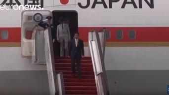 Прибытие лидеров стран на саммит G20 в Китае