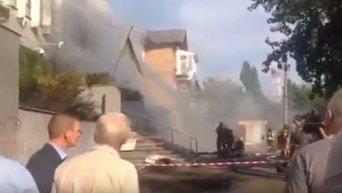 Пожар в здании телеканала Интер