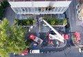 Тушение пожара в здании телеканала Интер в Киеве