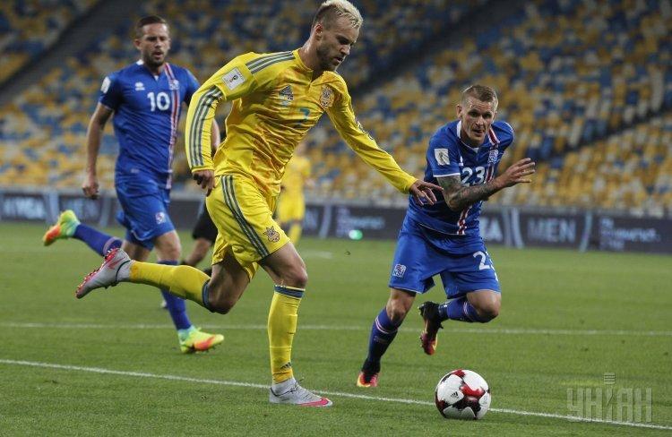 Игрок сборной Украины Андрей Ярмоленко