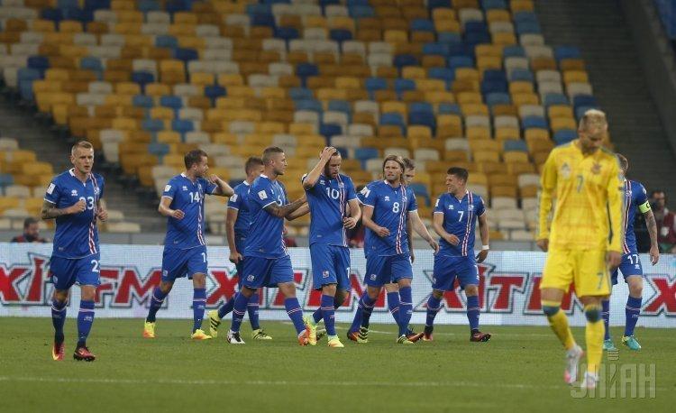 Сборная Исландии по футболу на НСК Олимпийский