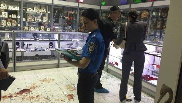 ВКиеве случилось вооруженное ограбление ювелирного магазина