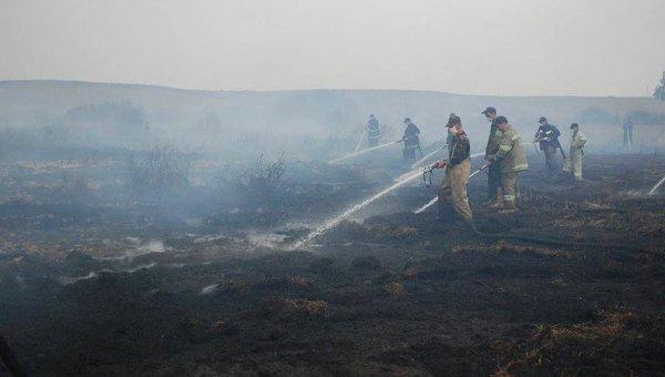 ВоЛьвовской области 2-ой день полыхают торфяники