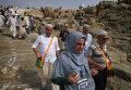 Паломники в долине Арафата в Саудовской Аравии