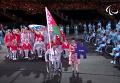 Белорусы пронесли флаг РФ на церемонии открытия Паралимпиады. Видео