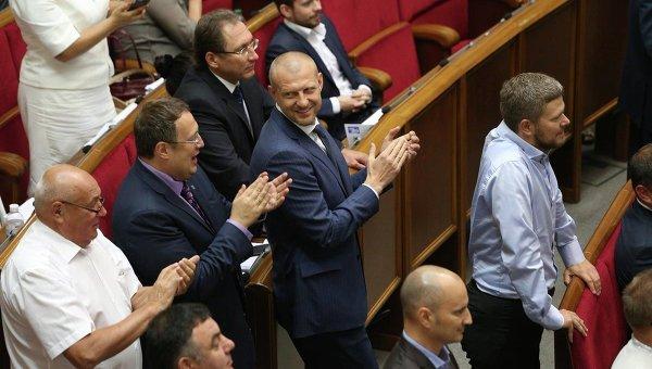 Народные депутаты в Верховной Раде 8 сентября 2016 года