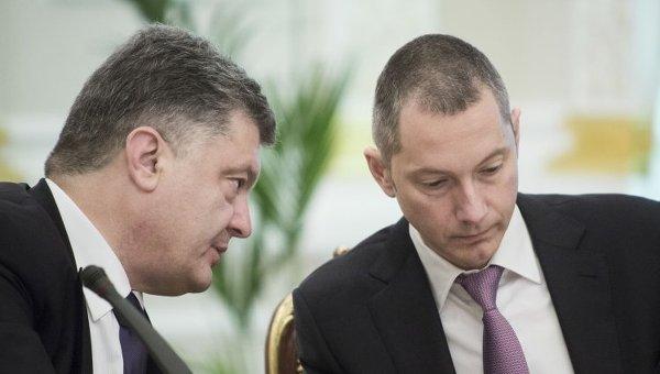 Петр Порошенко и Борис Ложкин. Архивное фото